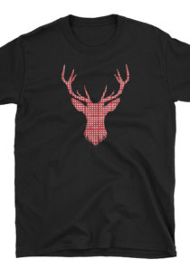Plaid Reindeer Unisex T-Shirt