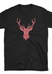 Plaid Reindeer Unisex T-Shirt